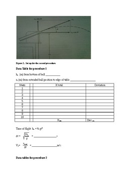 Projectile Motion Lab for college