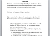 Projectile Motion Physics War Project Outline