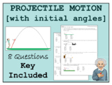 Projectile Motion Problem Set: Initial Angle