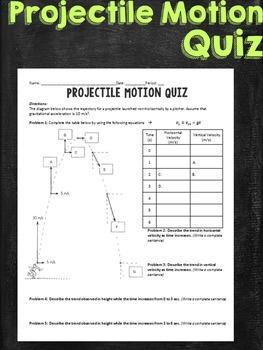 Projectile Motion Quiz Task