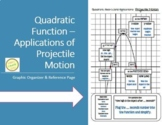 Projectile Motion Reference Page - Applications of Quadratic Functions