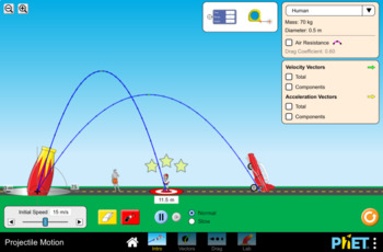 Projectile Motion Simulation Lab- PhET