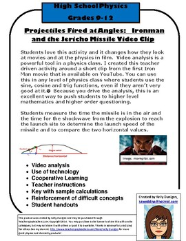 Projectile Motion Video Analysis Jericho Missile Iron Man