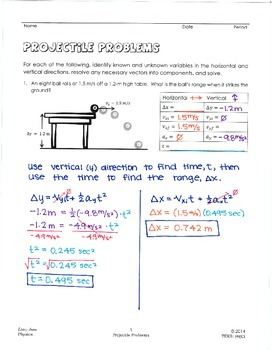 Projectile Problems