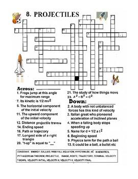 Projectiles Crossword
