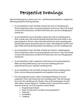Projects and Assignments for Basic Drawing 1