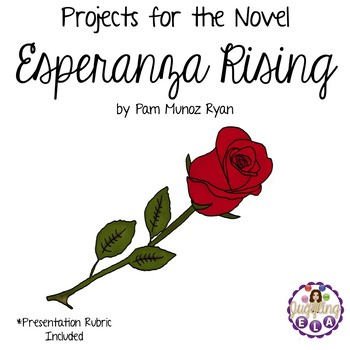 Projects for the novel Esperanza Rising by Pam Munoz Ryan