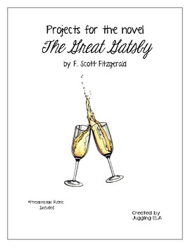 Projects for the novel The Great Gatsby by F. Scott Fitzgerald