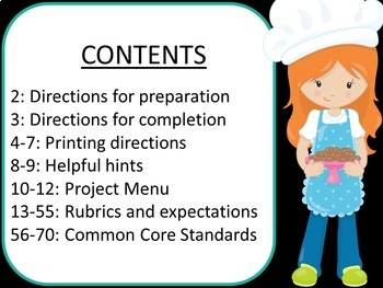 Projects with Rubrics: Editable Project Menu