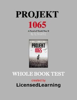 Projekt 1065 by ALAN GRATZ Test (Whole Book Exam)