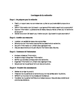 Projet - Francophonie