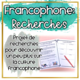 Projet : La culture francophone (Distance Learning)