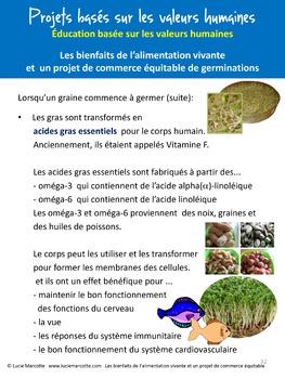 Projet Les bienfaits de l'alimentation vivante   Living food project (in French)