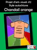 Projet d'arts visuels #2 Style autochtone Chandail orange