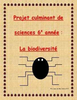 Projet de 6e année: la Biodiversité