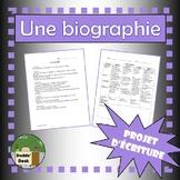 Projet de biographie (Biography Project)