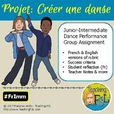 Projet de danse / French Immersion Dance Creation Projet