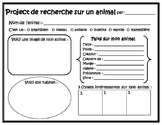 French Animal Research Project Template