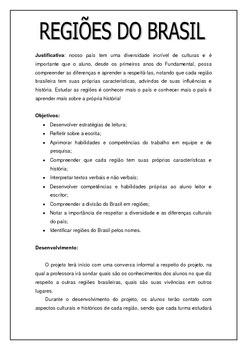 Projeto Regiões do Brasil - Alfabetização