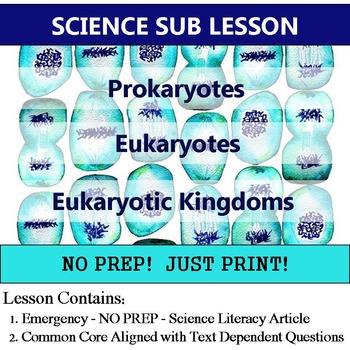 Prokaryote and Eukaryote Cells - Science Sub Lesson - Common Core Homework