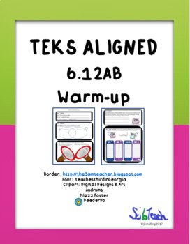 Prokaryote vs Eukaryote and Cell Theory warm-up or bell ringer TEKS 6.12AB