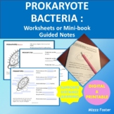 Prokaryotes: Bacteria Worksheets or Mini-Book with Key for INB