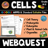 Cells WebQuest - Prokaryotic and Eukaryotic Cells - Cells Distance Learning