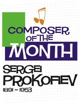 Prokofiev | Composer of the Month Bulletin Board Pack (Digital Print)