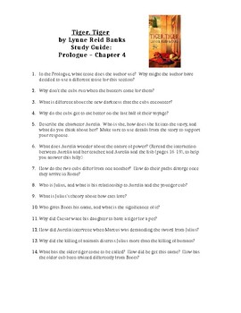 Prologue-Chapter 4 questions -- Tiger, Tiger by Lynne Reid Banks