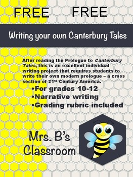 Prologue to Canterbury Tales - Writing Assignment