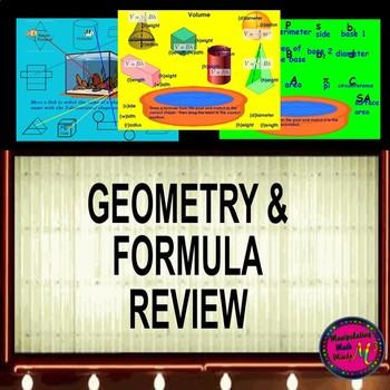 Promethean ActivInspire Geometry and Formulas Review Activity
