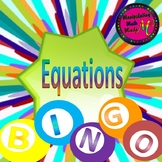 Promethean ActivInspire Solving Equations Bingo review game