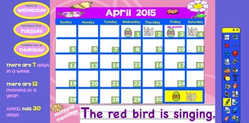 Promethean April 2015 Interactive Calendar