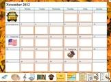 Promethean Board November Calendar