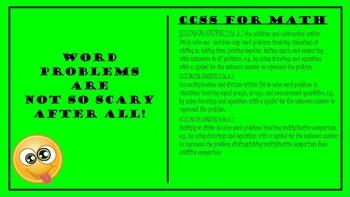 Promethean / ClassFlow Flip Chart Word Problem Comprehension Skills ~ CCSS MATH