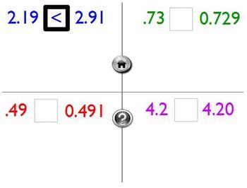 Promethean Flipchart Common Core Math 5.NBT.3b : Comparing Decimals