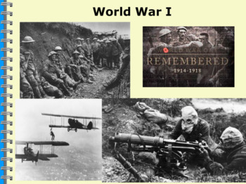 Promethean Flipchart for WWI to WWII Unit (5th Grade TN Standards 2018-2019)