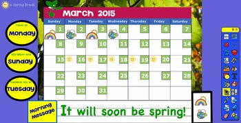 Promethean March 2015 Interactive Calendar