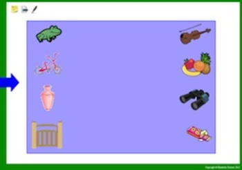 Promethean: Match pictures with the same shared sound (phonemic awareness)