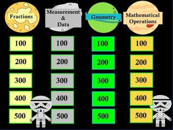 Promethean/ClassFlow 3rd Grade Math Jeopardy ~ CCSS ~ Star Wars Theme ~ Editable