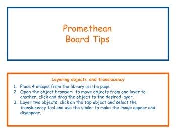 Promethean flipchart helpful hints