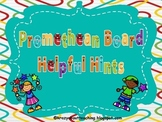 Promethean flipchart helpful hints