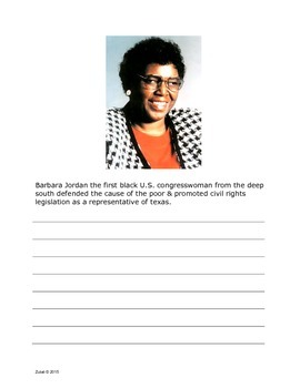 Famous African-Americans - Daily Oral Language Exercises