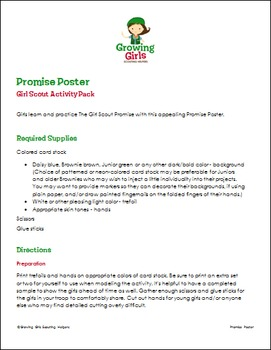Promise Poster - Girl Scout Activity Pack