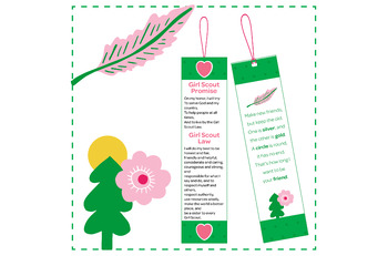 Promise And Law Make New Friends Printable Bookmarks Girl