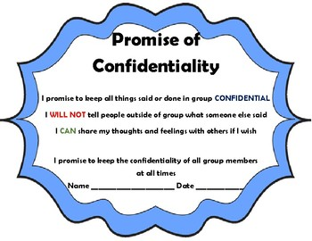Promise of Confidentiality