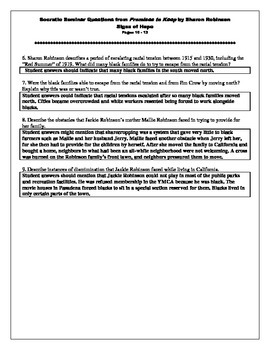 Promises to Keep: Socratic Seminar & Discussion Questions