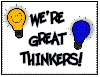 Promote Great Thinking Light Bulb Cards