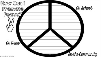 Promote Peace - A Back to School Activity