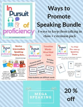 Bundle Promote Speaking in the Spanish Classroom